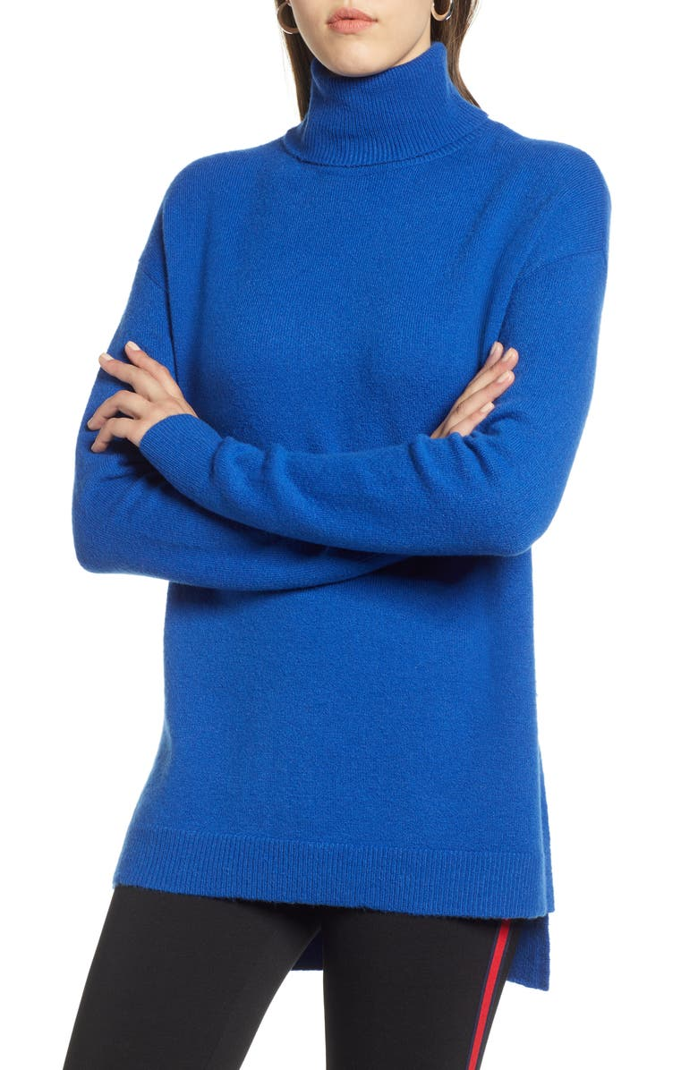 HALOGEN<SUP>®</SUP> Turtleneck Wool Blend Tunic Sweater, Main, color, 401