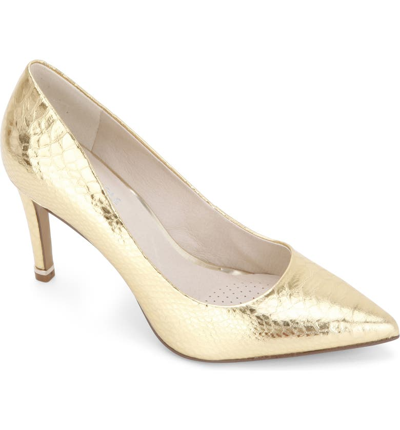 KENNETH COLE NEW YORK Riley 85 Pump, Main, color, GOLD LEATHER