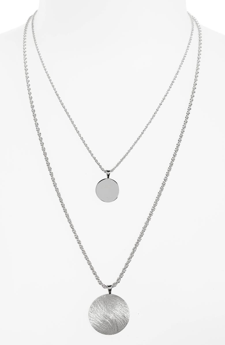 HALOGEN<SUP>®</SUP> Double Layer Necklace, Main, color, 040