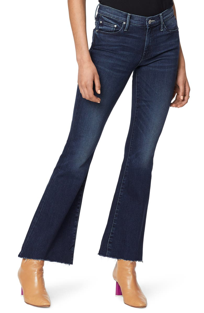 MOTHER The Weekend High Waist Fray Hem Flare Jeans, Main, color, TONGUE AND CHIC