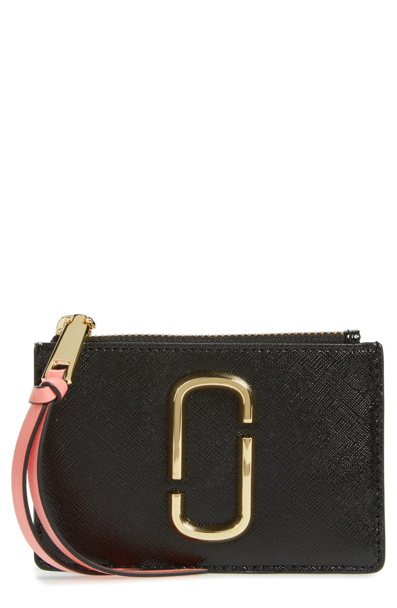 THE MARC JACOBS MARC JACOBS Snapshot Leather ID Wallet, Main, color, 009