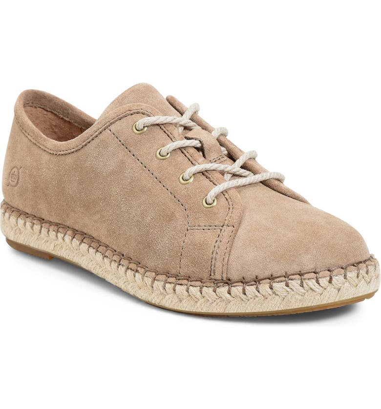 BØRN Seel Lace-Up Flat, Main, color, TAUPE SUEDE
