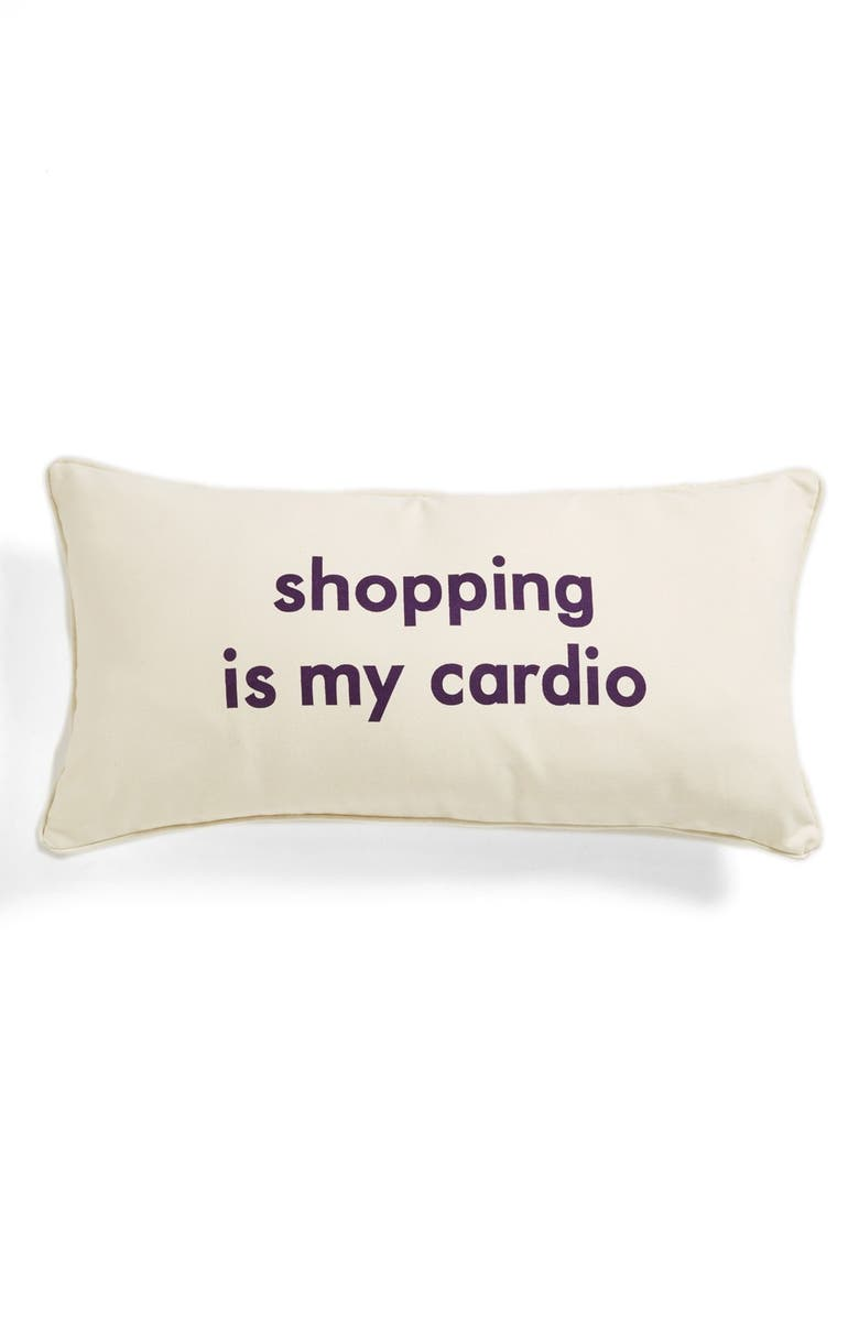 LEVTEX 'Shopping Is My Cardio' Pillow, Main, color, 900