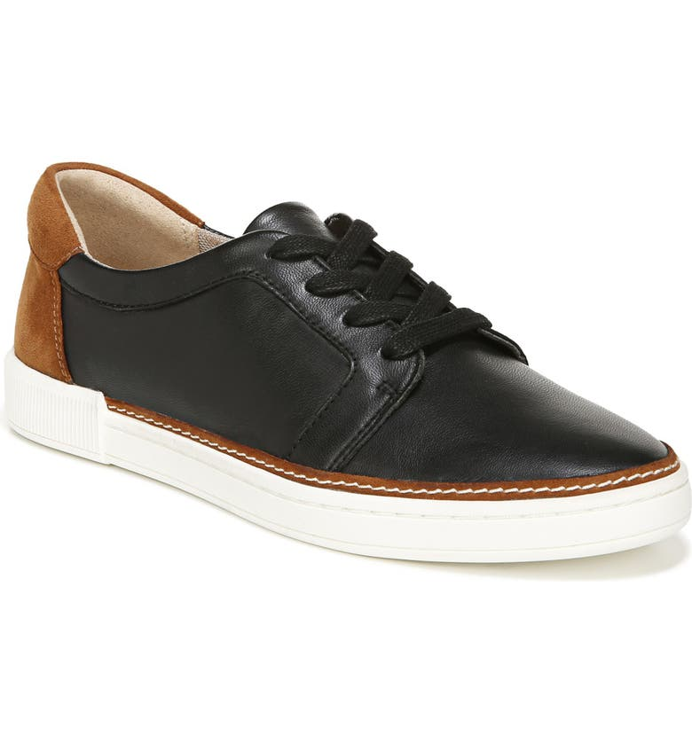 NATURALIZER Jane Sneaker, Main, color, BLACK/ TAN LEATHER