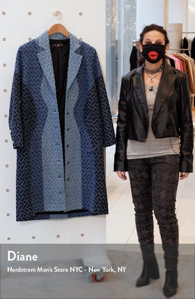 Geo Pattern Denim Coat, sales video thumbnail
