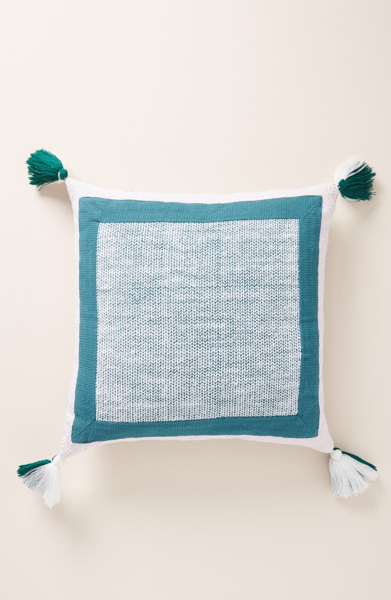 ANTHROPOLOGIE HOME Anthropologie Pacey Tassel Accent Pillow, Main, color, 500