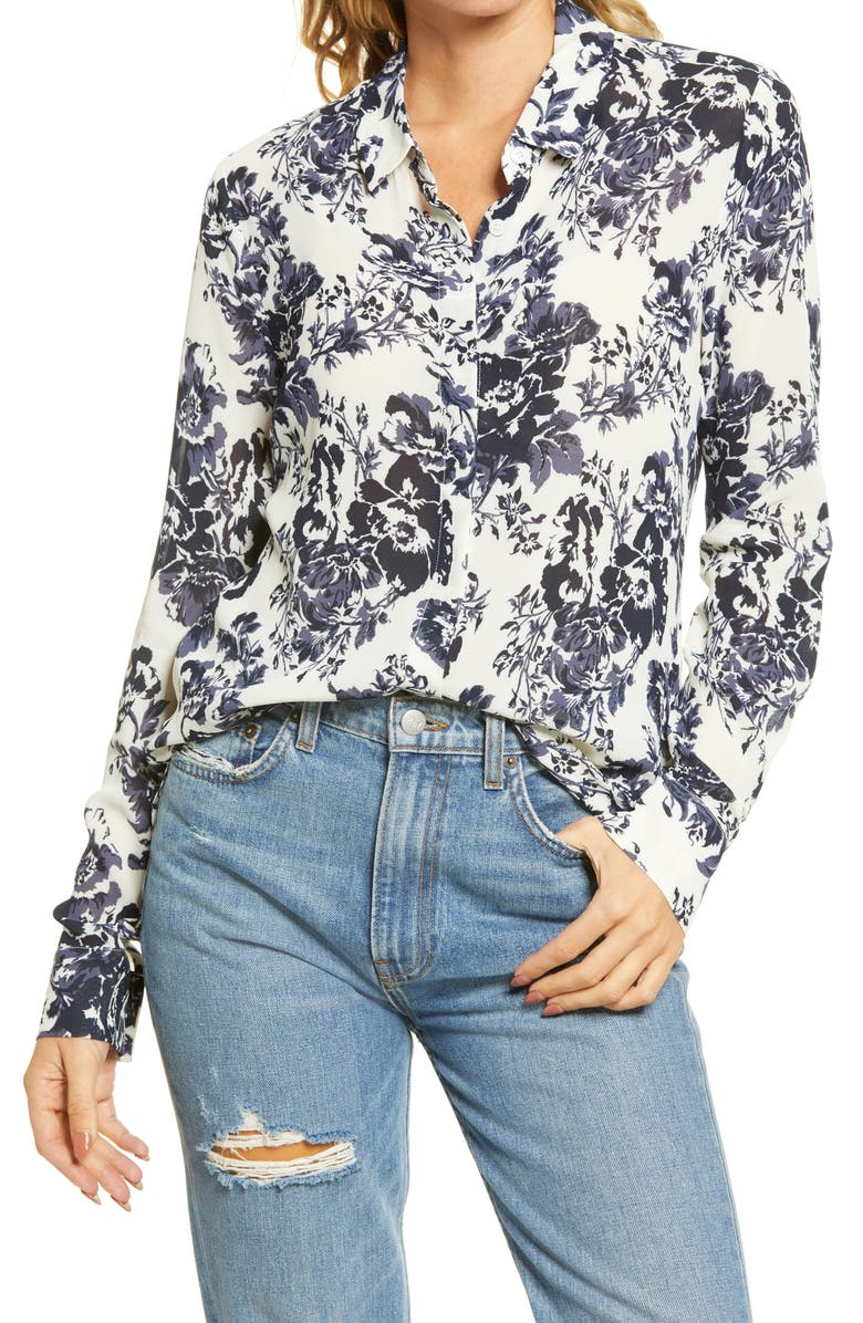 REFORMATION Violet Blouse, Main, color, MADAME