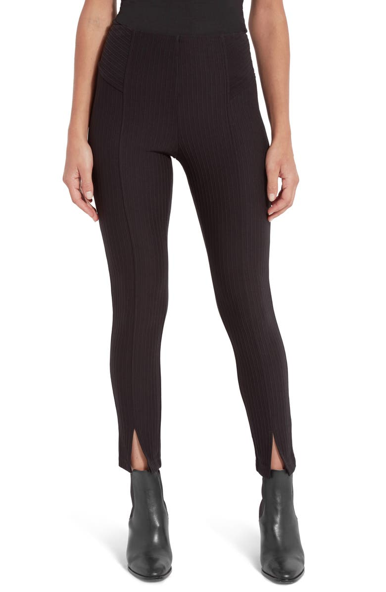 LYSSÉ Column Front Slit Leggings, Main, color, 001