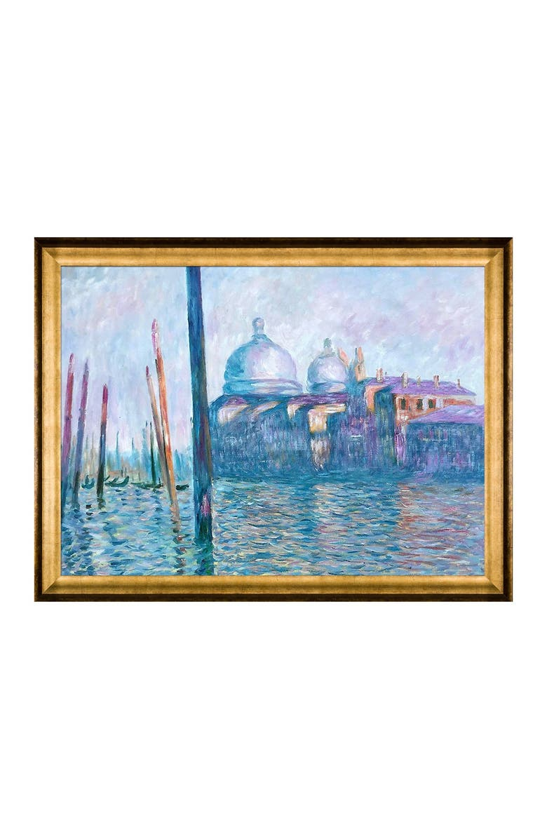 OVERSTOCK ART The Grand Canal, Venice - Framed Oil reproduction of an original painting by Claude Monet, Main, color, MULTI