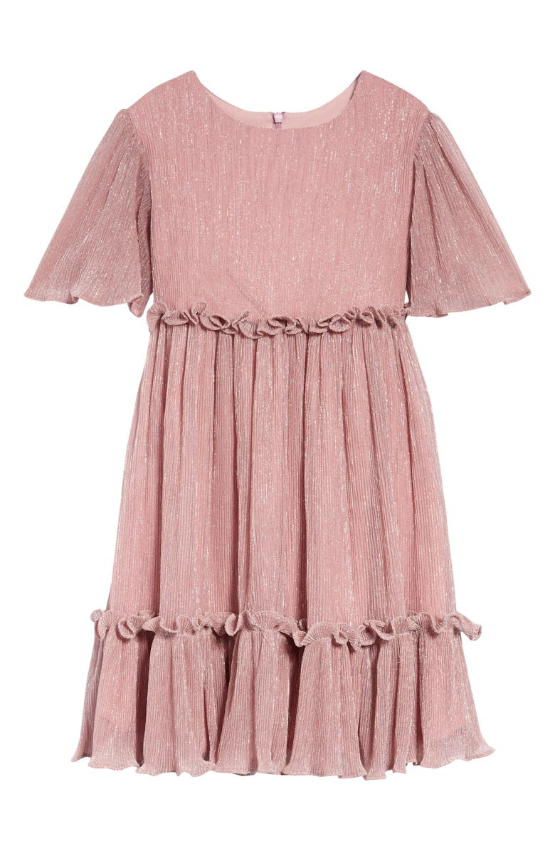 NORDSTROM Tiered Sparkle Dress, Main, color, PINK BEAUTY