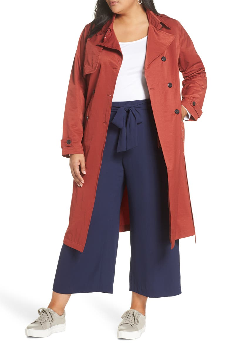 HALOGEN<SUP>®</SUP> Double Breasted Trench Coat, Main, color, 800