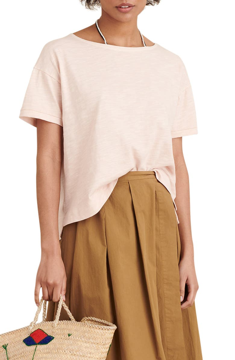 ALEX MILL Slub Boxy Tee, Main, color, PALE PINK