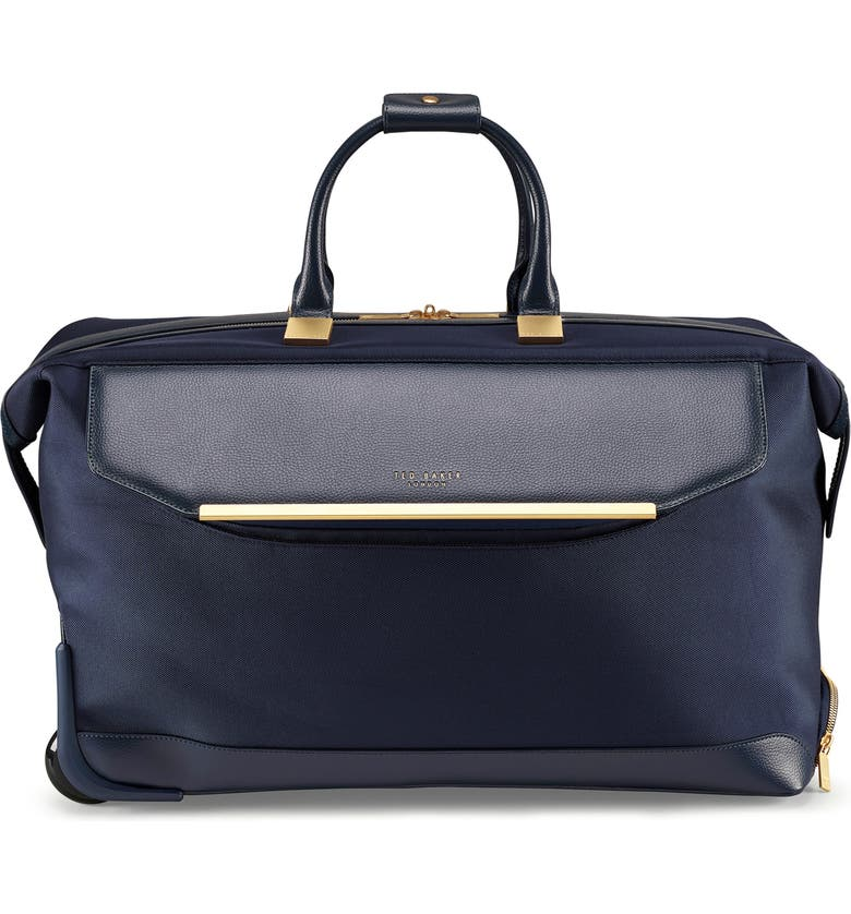 TED BAKER LONDON Large Albany Rolling Duffle Bag, Main, color, NAVY