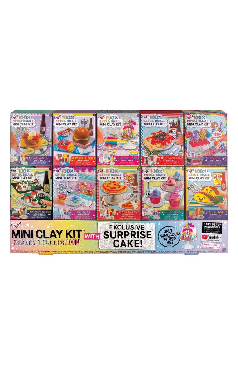 FASHION ANGELS 10-Pack Mini Clay Kit, Main, color, 960