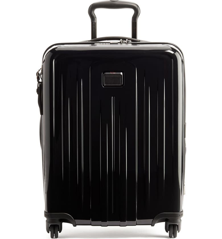 TUMI V4 Collection 22-Inch Continental Expandable Spinner Carry-On, Main, color, BLACK
