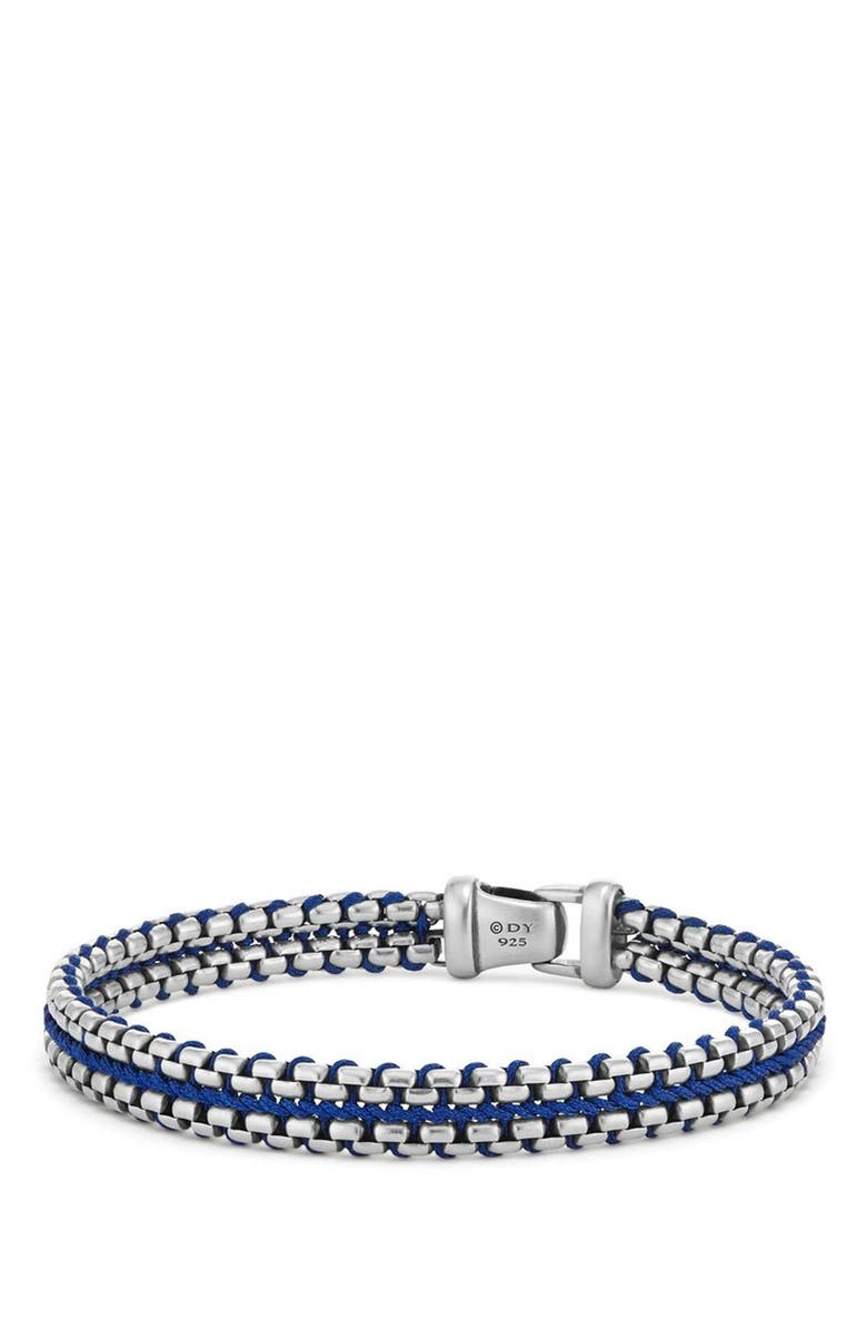 DAVID YURMAN Woven Box Chain Bracelet, Main, color, Blue