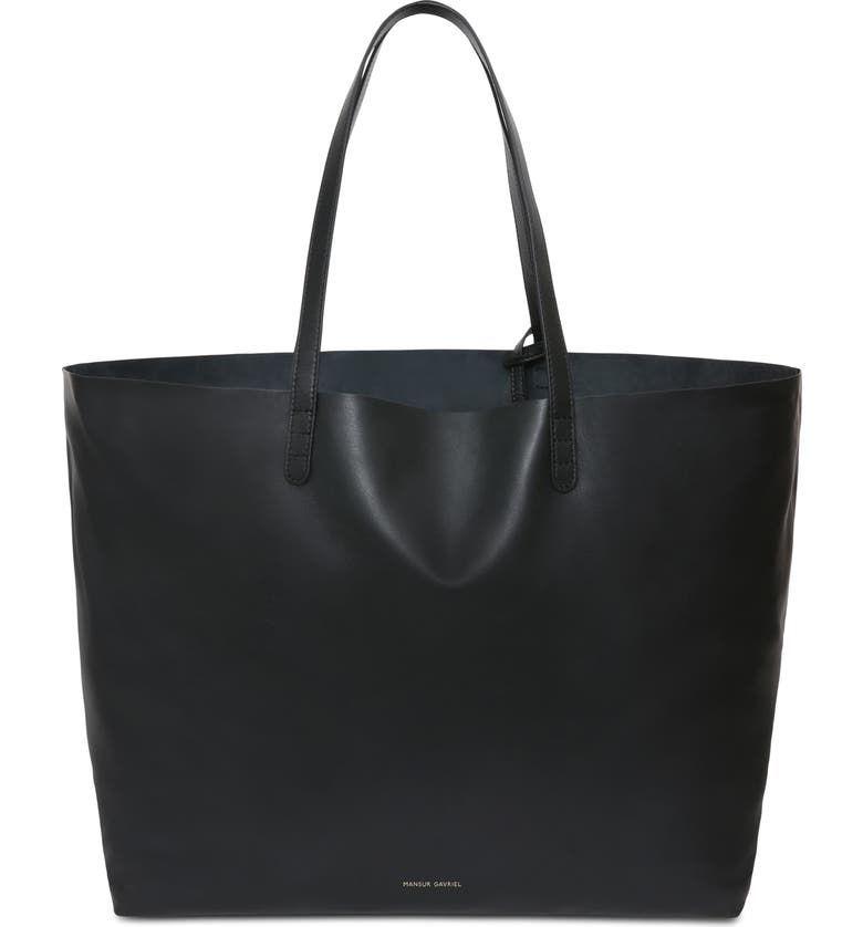 MANSUR GAVRIEL Oversize Lambskin Leather Tote, Main, color, 002