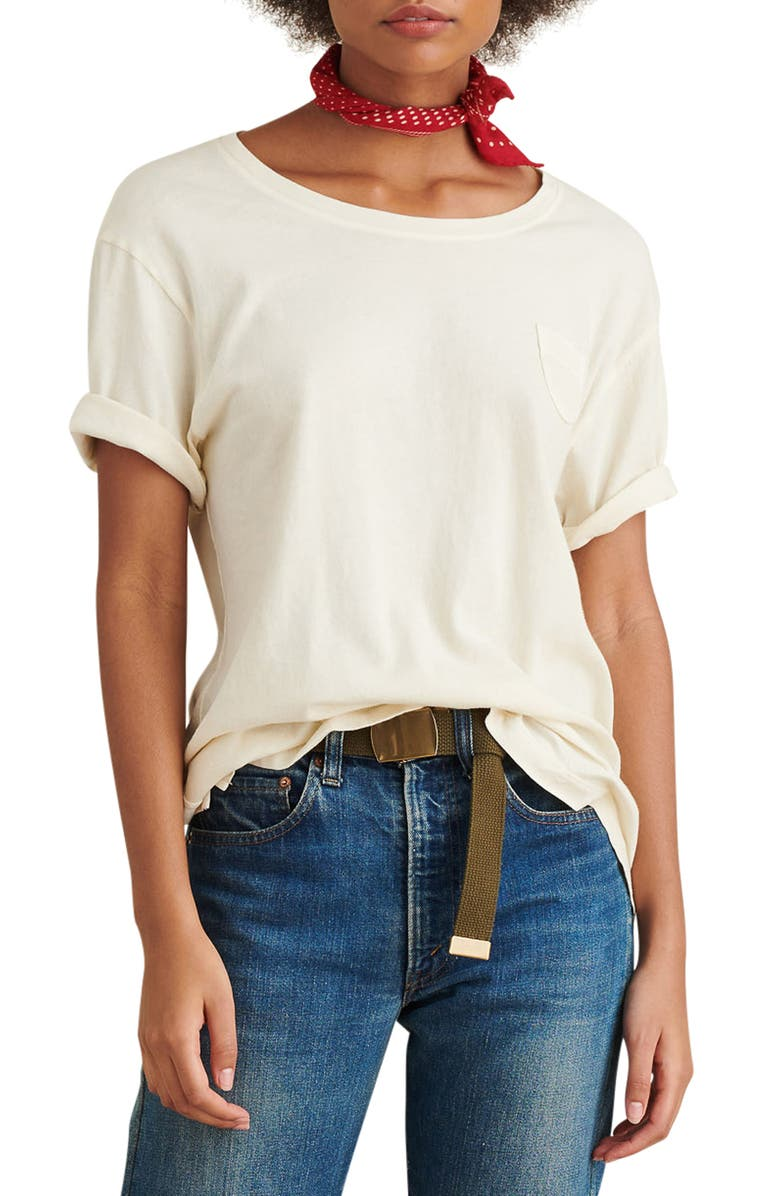 ALEX MILL Laundered Cotton Pocket Tee, Main, color, 251