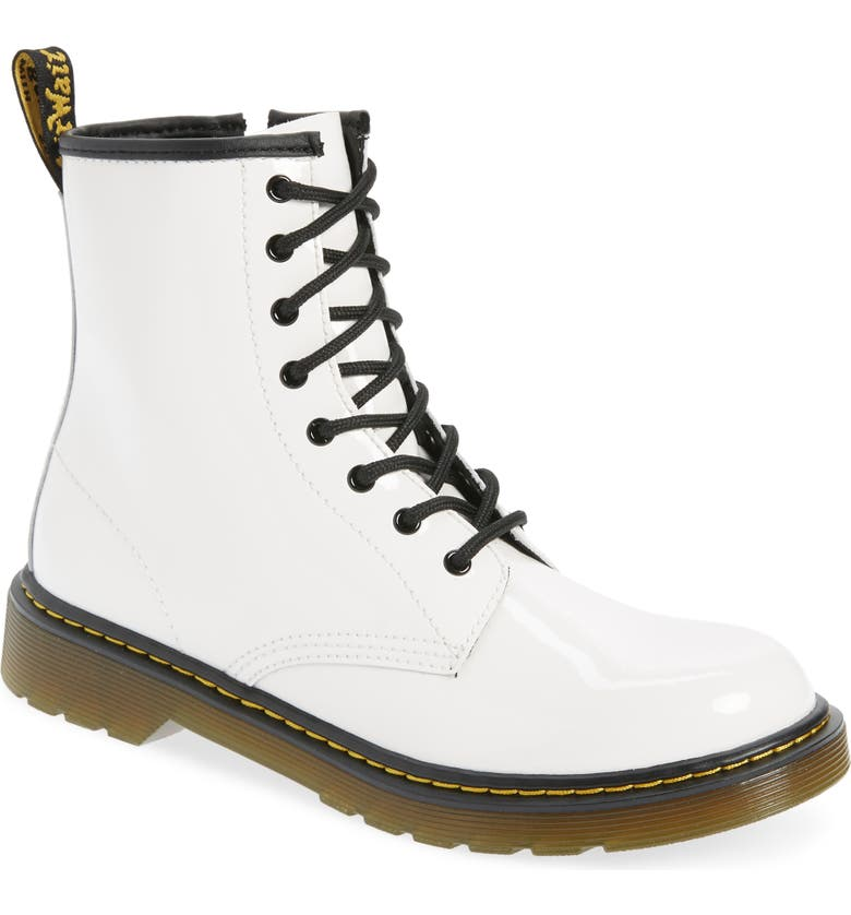 DR. MARTENS Combs Junior Boot, Main, color, White