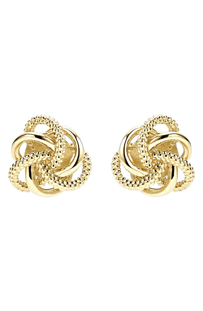 LAGOS Love Knot Stud Earrings, Main, color, Gold