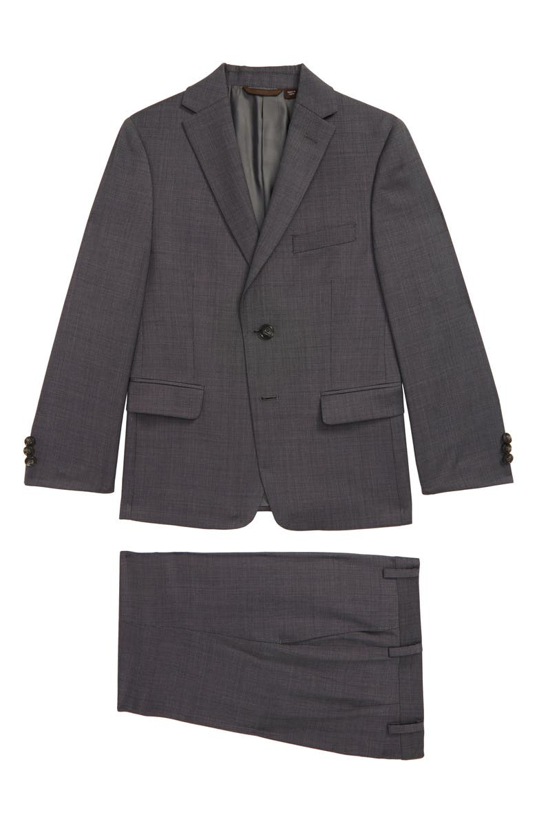 MICHAEL KORS Neat Nested Wool Blend Suit, Main, color, 020