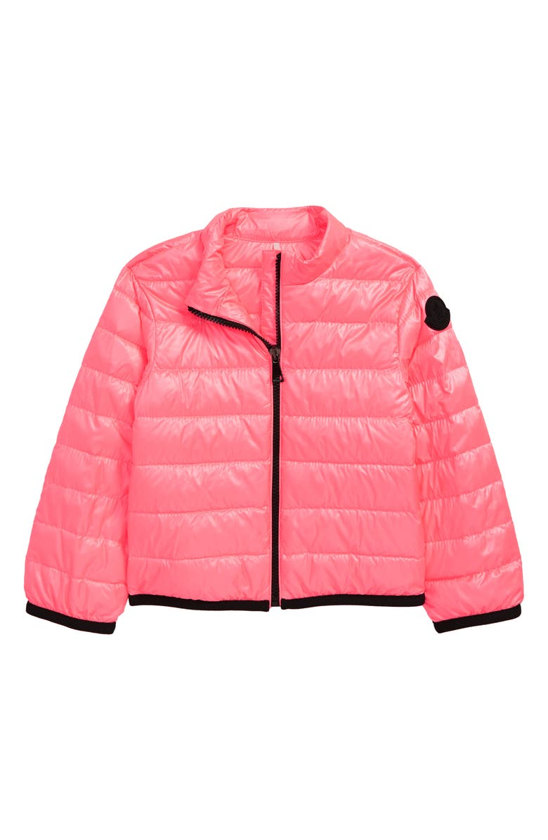 MONCLER Kids' Photine Water Resistant Down Puffer Jacket, Main, color, BRIGHT PINK