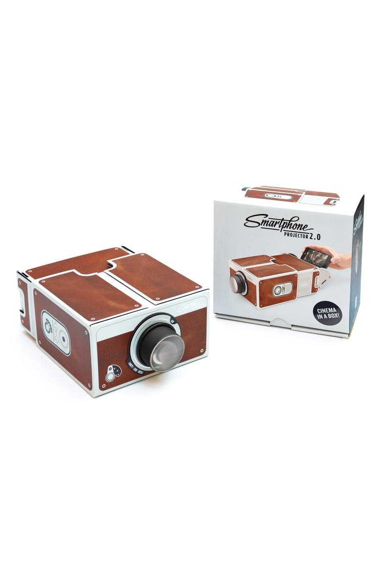 LUCKIES OF LONDON Smartphone Projector 2.0, Main, color, Brown