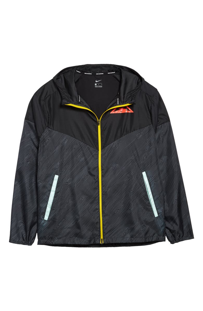 NIKE Windrunner Trail Packable Hooded Jacket, Main, color, 010
