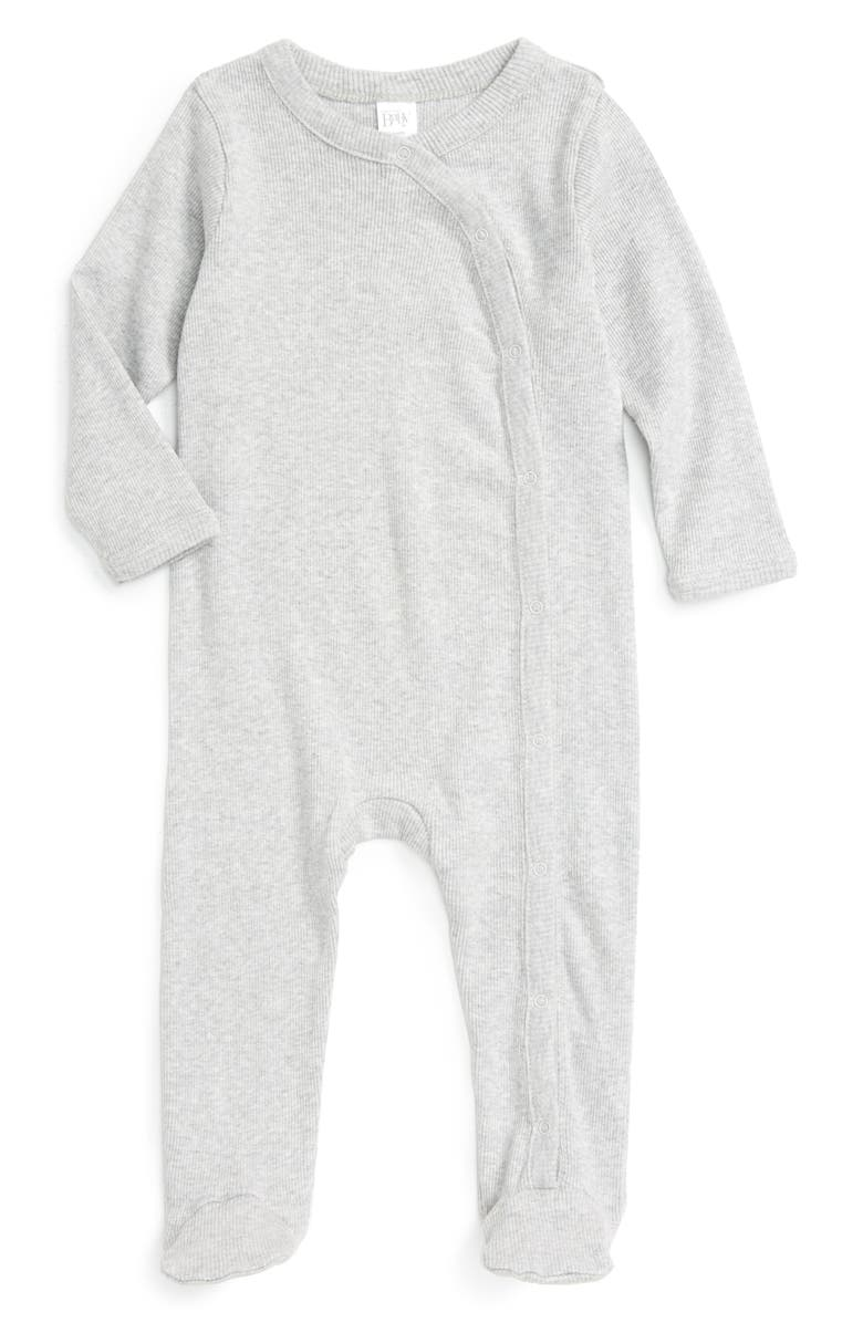 NORDSTROM BABY Rib Knit Footie, Main, color, 050