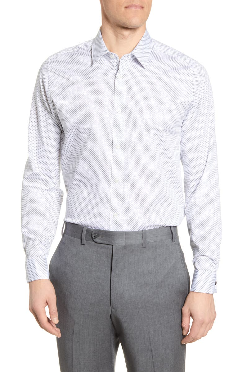 TED BAKER LONDON Modern Fit Dress Shirt, Main, color, 110