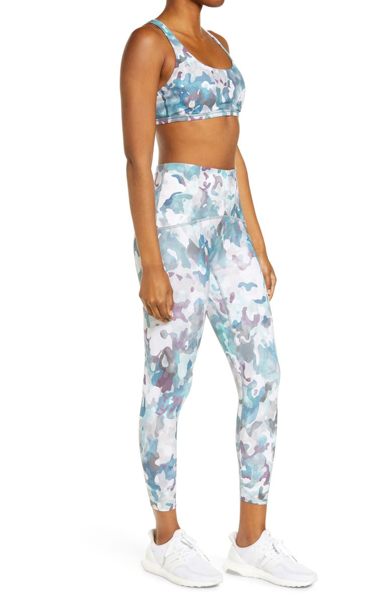 SPANX<SUP>®</SUP> Print Low Impact Sports Bra, Main, color, PAINTED CAMO PINK MULTI