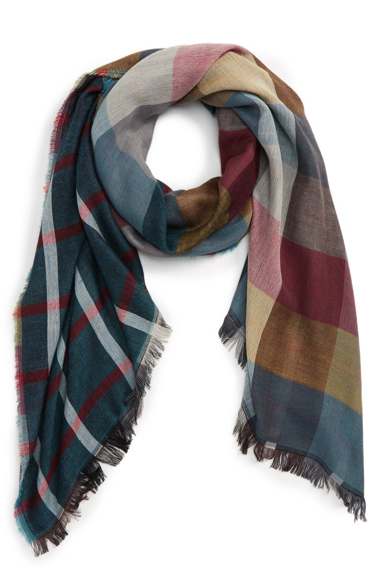 BP. Plaid Scarf, Main, color, 400