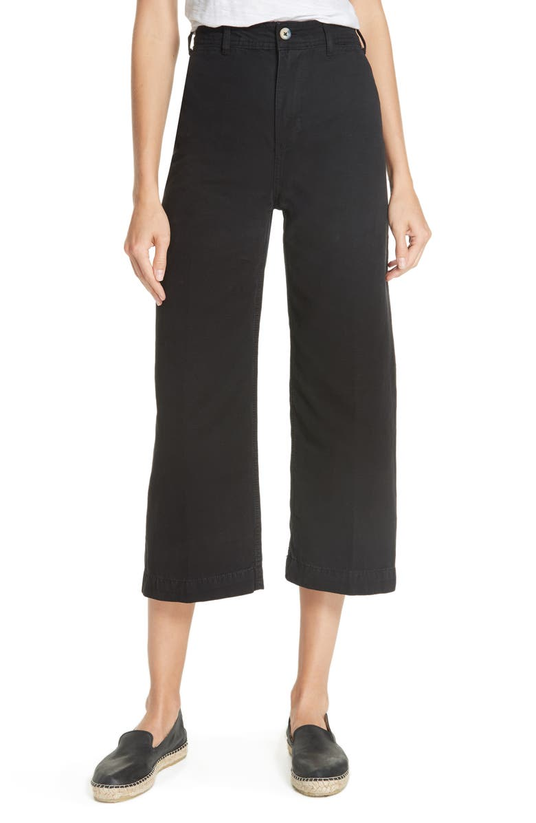FREE PEOPLE We the Free by Free People Patti Crop Cotton Pants, Main, color, 001