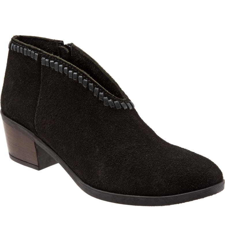 BUENO Chester Bootie, Main, color, BLACK SUEDE
