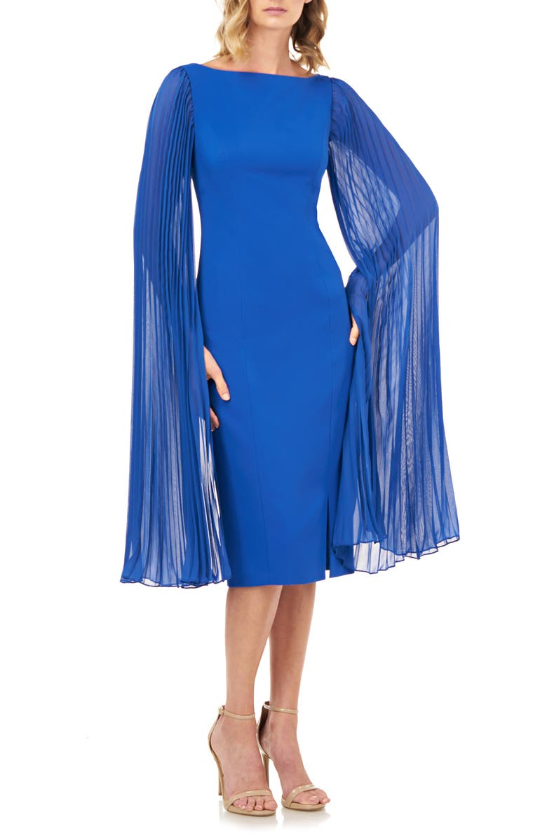KAY UNGER Angelica Statement Sleeve Cocktail Dress, Main, color, 435