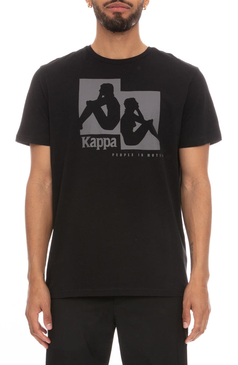 KAPPA Authentic Rayo Graphic Tee, Main, color, BLACK / GREY DK