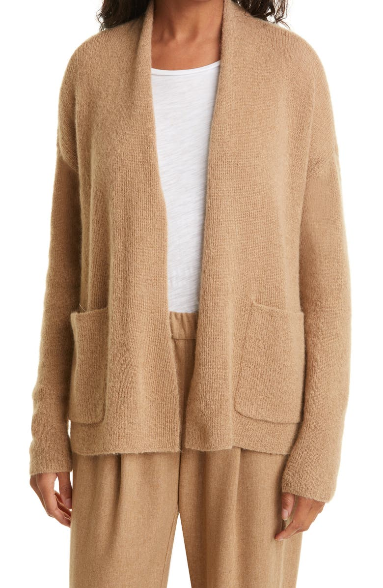 EILEEN FISHER Boxy Open Front Cardigan, Main, color, LTHON