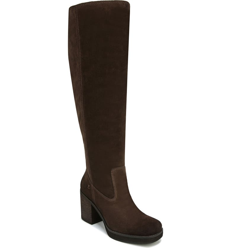 ZODIAC Padma Knee High Boot, Main, color, CHOCOLATE SUEDE