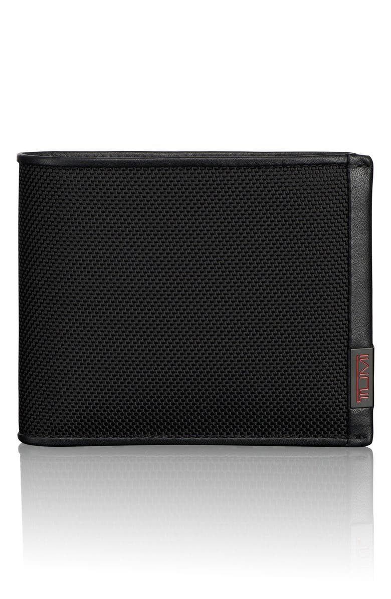 TUMI Alpha Global ID Lock<sup>™</sup> Wallet with Removable Passcase, Main, color, BLACK