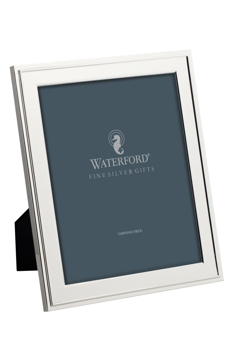WATERFORD Classic Picture Frame, Main, color, SILVER