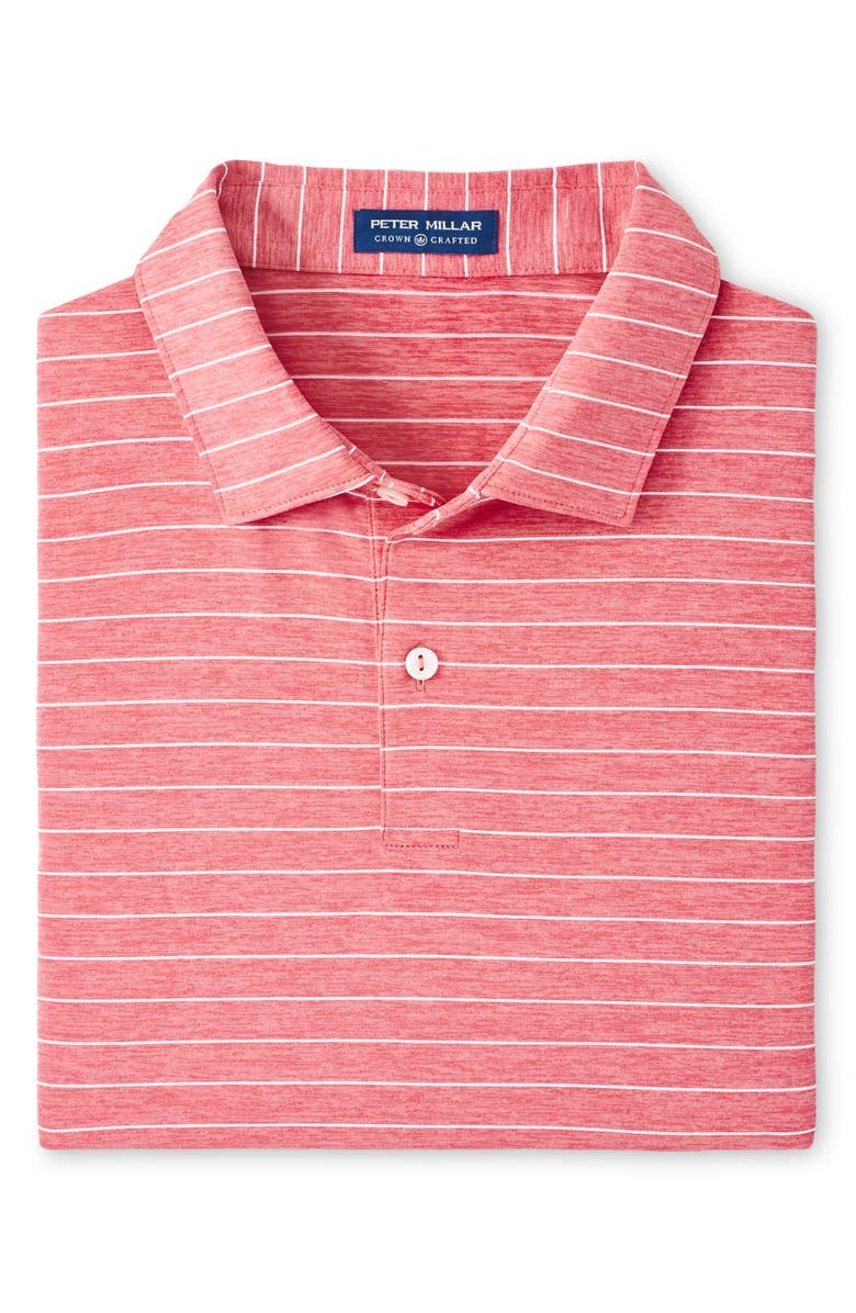 PETER MILLAR Wright Stripe Short Sleeve Performance Golf Polo, Main, color, FRENCH TULIP