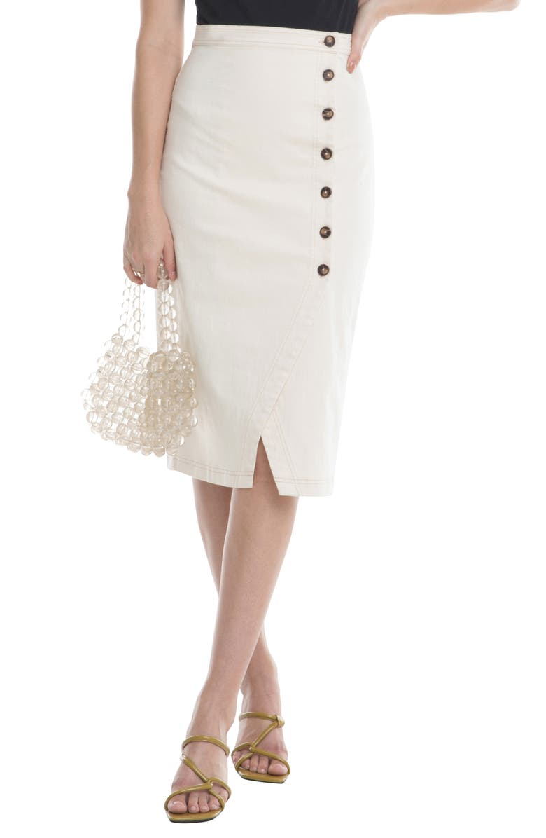 ASTR THE LABEL Eileen Button Front Skirt, Main, color, 250
