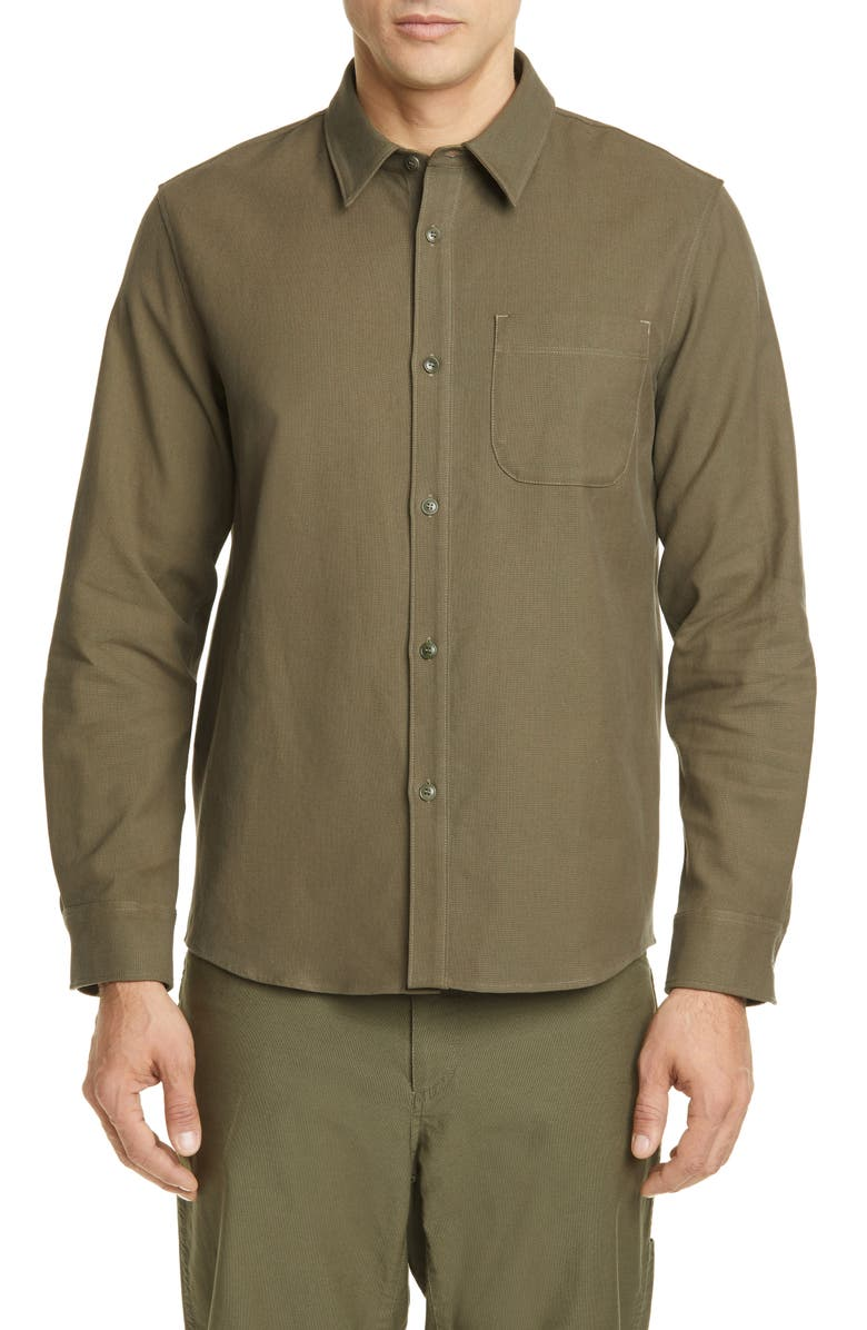 A.P.C. Surchemise Trek Shirt Jacket, Main, color, JAA KAKI