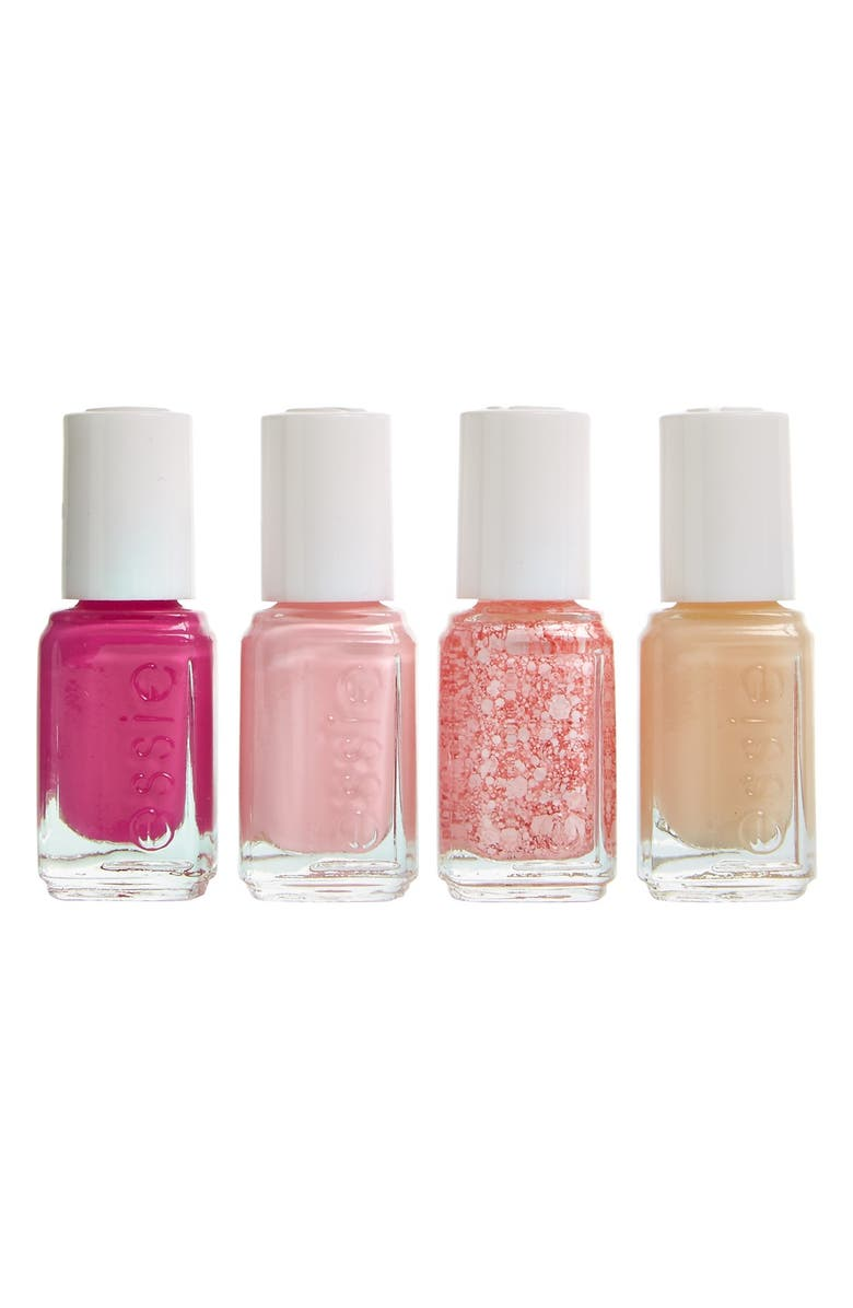 ESSIE <sup>®</sup> 'Breast Cancer Awareness' Mini Four-Pack, Main, color, 000