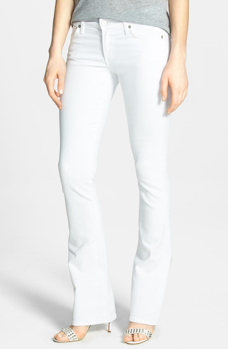 CITIZENS OF HUMANITY 'Emannuelle' Slim Bootcut Jeans, Main, color, OPTIC WHITE