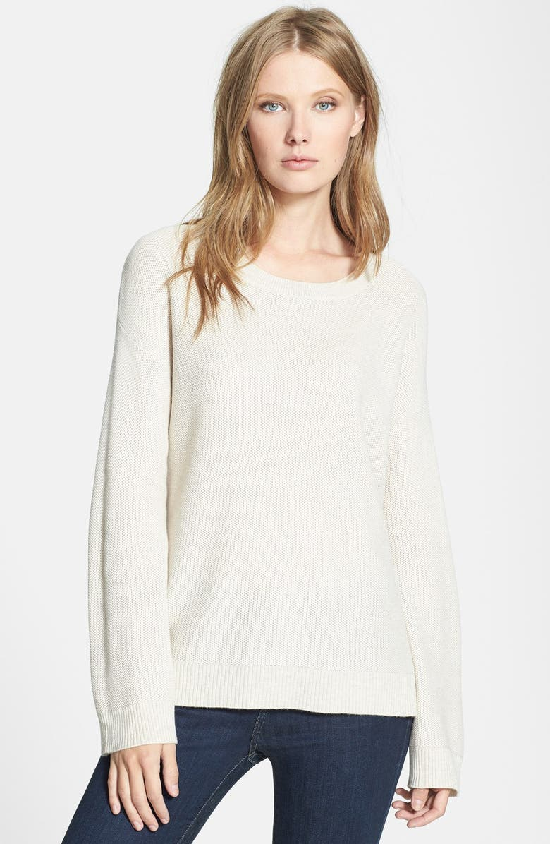 JOIE 'Moselle' Sweater, Main, color, HEATHER ANTIQUE WHITE