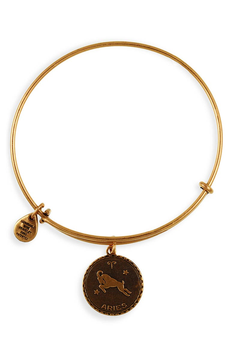 ALEX AND ANI 'Cancer' Expandable Wire Bangle, Main, color, ARIES