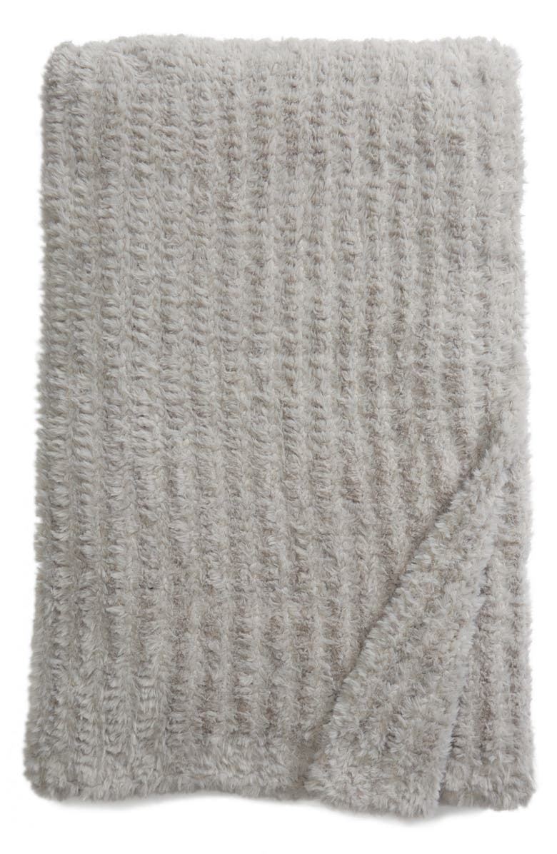 NORDSTROM at Home Lazy Days Faux Fur Throw Blanket, Main, color, 020