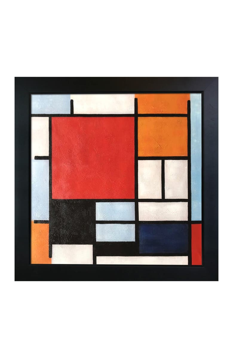 OVERSTOCK ART Composition with Large Red Plane, Yellow, Black, Gray and Blue - Framed Oil Reproduction of an Original Painting by Piet Mondrian, Main, color, MULTI