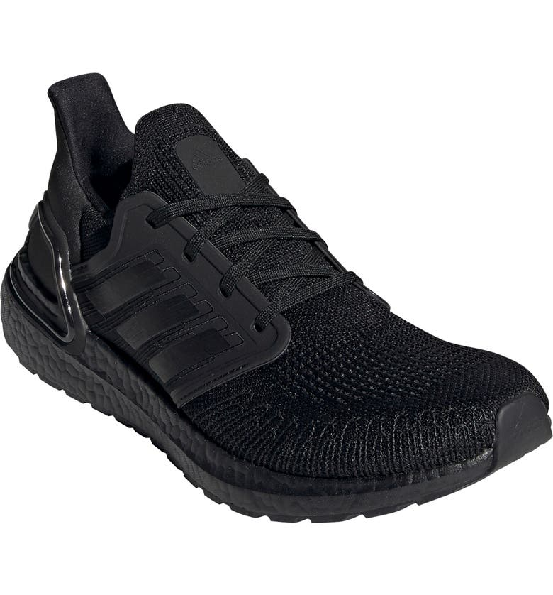ADIDAS UltraBoost 20 Running Shoe, Main, color, CORE BLACK/ GREY/ SOLAR RED